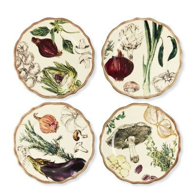 French Market Scallop Salad Plates, Set of 4 #WilliamsSonoma...my wedding present to myself and the hubby. :)