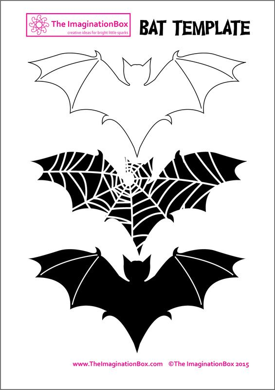 The imaginationBox: halloween bat template, free to download.