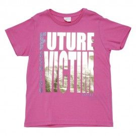 T-shirt rosa in jersey di cotone