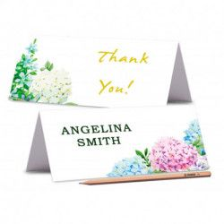 TENT PLACE CARDS, Printed Floral Wedding Place Card, Editable Wedding Place card, Peony Name Cards, Food Labels Cards
