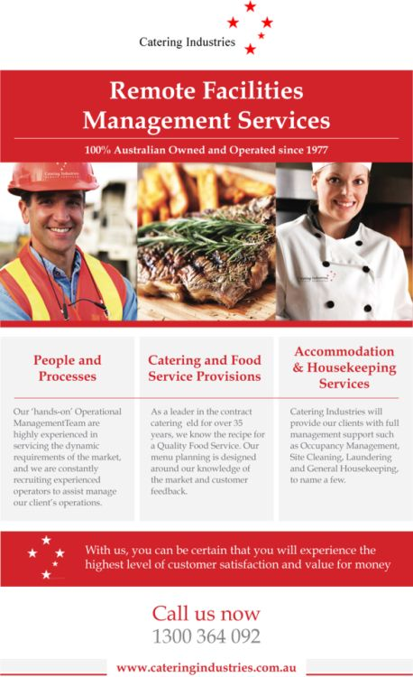 Remote Site Catering Facilities Management Services