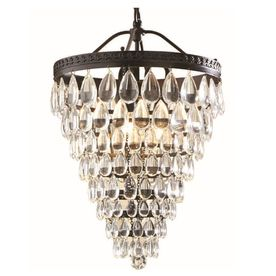 Allen Roth Eberline W Oil Rubbed Bronze Pendant Light With Crystal Shade Ixo8193a