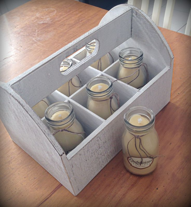 Bees Wax Milk Bottle Candle