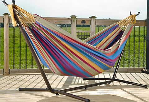 2 Person 9-Ft. Hammock and Stand @ Sharper Image