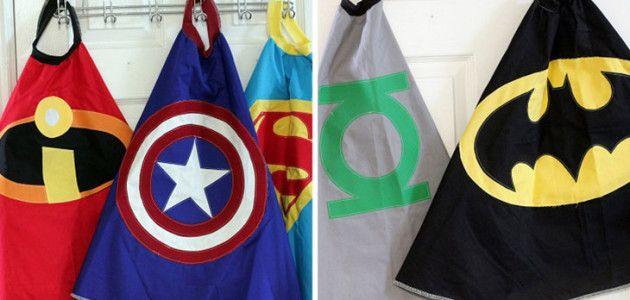 Capas de superhéroe, crea disfraces caseros para tus fiestas temáticas