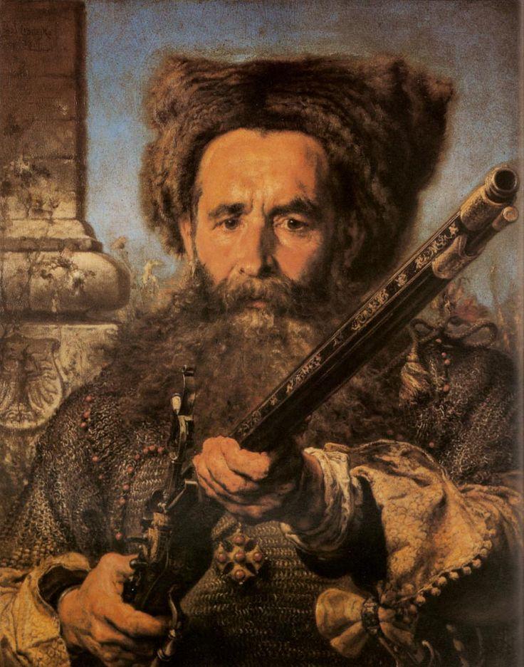 Portrait of Hetman Ostafij Daszkiewicz - Jan Matejko