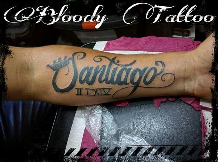 Tatuaje De Nombre Santiago Tatuajes Santiago Tatuaje De Nombre Santiago