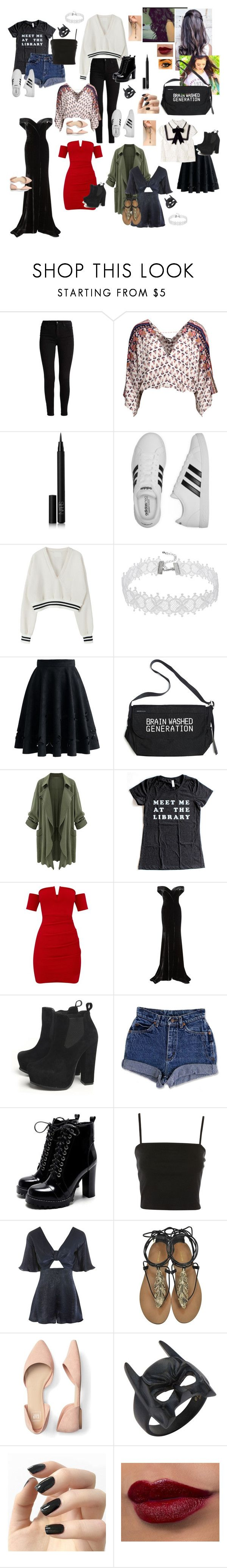 """""""New random item #1 of collections"""" by haileyscomet95 ❤ liked on Polyvore featuring NARS Cosmetics, adidas, Chicwish, Undercover, Rachel Gilbert, AX Paris, Topshop, Roberto Cavalli and Incoco"""