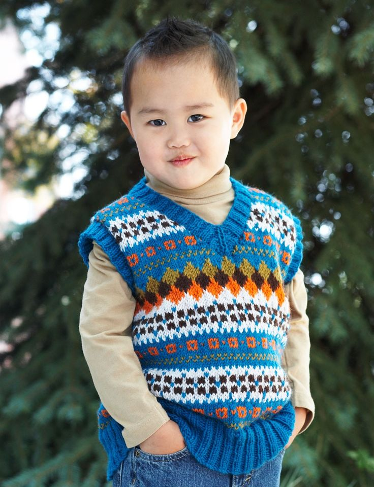 Baby V Neck Vest Knitting Pattern: Best images about knitting on ...