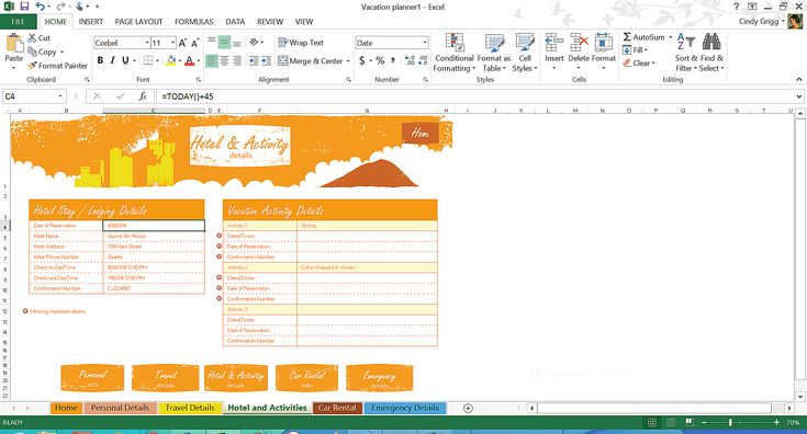 Free Microsoft Excel Spreadsheets to Help You Get More Done: Travel and Vacation Planning