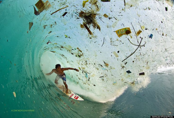 Photographer Captures Waves of Trash in Indonesia