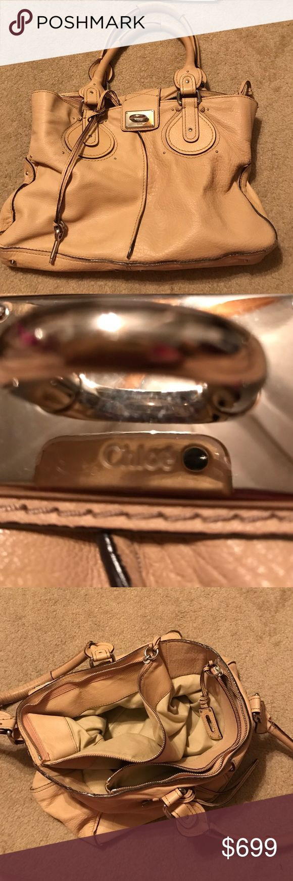 Chloe large purse authentic with card serial # Chloe large purse authentic with card serial # and hologram sticker on the other side its hard to read the number. Serious buyers feel free to request additional pics and i will post Chloe Bags Shoulder Bags