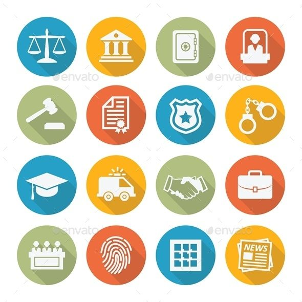 Law Icons | Download: http://graphicriver.net/item/law-icons/10233636?ref=ksioks