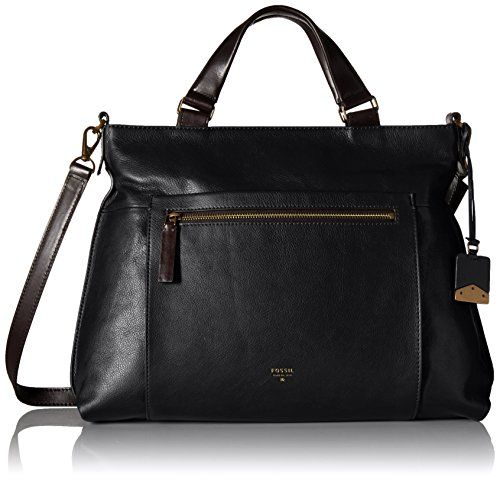 Fossil Vickery Work Tote Shoulder Bag, Black, One Size