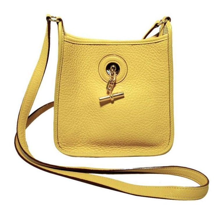 Mini vespa shoulder bag by Hermes in yellow clemence