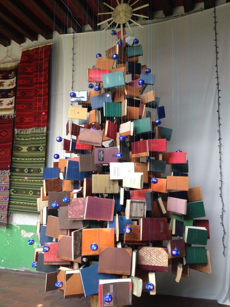 Book Tree BUT hung on strings from ceiling! - 4:21