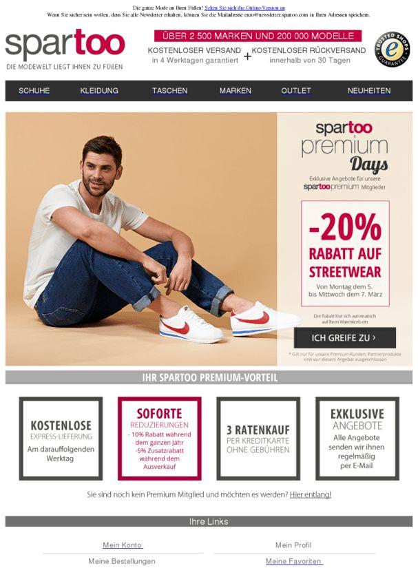 LETZTER TAG Spartoo Premium Days : -20% Rabatt auf Streetwear von Converse, Adidas, Nike, New Balance. Kostenlose Expresslieferung.