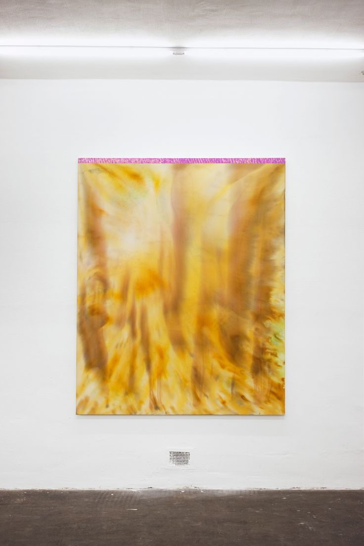 Magni Borgehed Untitled, 2013, silk paint, ink, glue, gesso and oil on sailing canvas, 179 x 145 cm