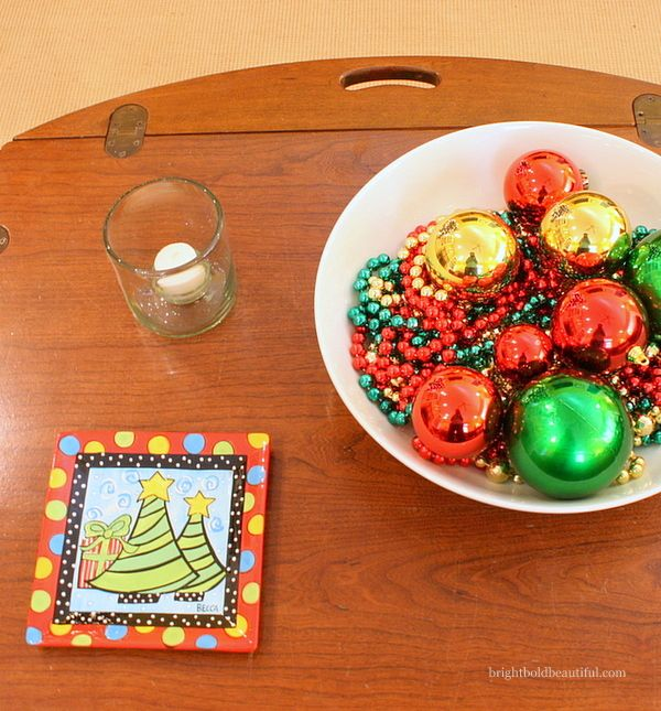 Grab a serving dish from Darby Road and toss in some fun ornaments!  Great gift for yourself! Tis The Season To Be Jolly