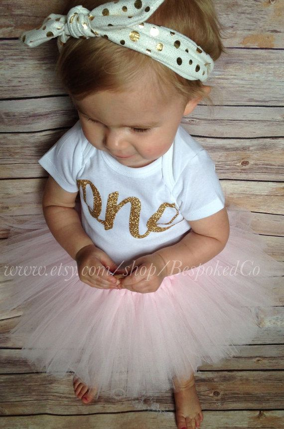 ONE™First Birthday Outfit Girl 1st Birthday Girl by BespokedCo