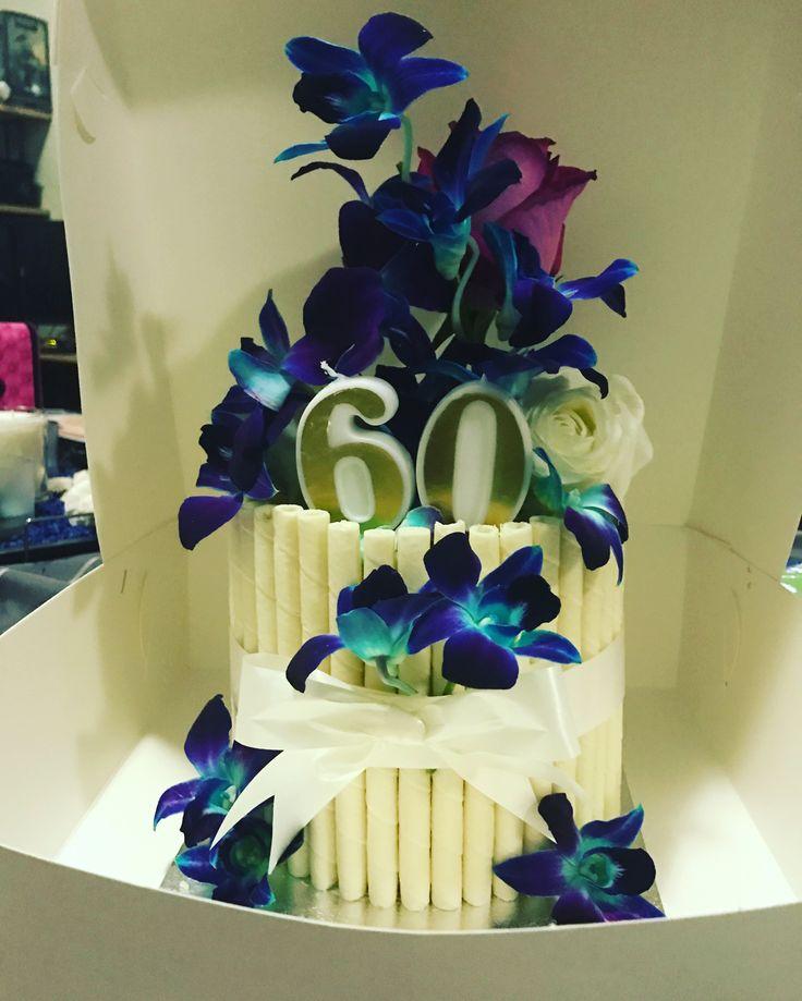 60th birthday cake #mkcakesandsweets
