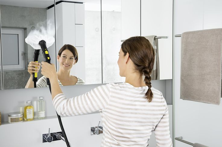 Ποιος θα καθαρίσει τα άλατα στο μπάνιο; ΕΓΩ! Θέλετε υγιεινό καθάρισμα αλλά χωρίς χημικα;  Τα ατμοσυστήματα της Kärcher αποτελούν την κατάλληλη επιλογή για εσάς.  Ξεχάστε το κουραστικό τρίψιμο. Ο ατμός είναι ιδιαίτερα αποτελεσματικός για τη διάλυση και απομάκρυνση ακόμα και της πιο δύσκολης βρωμιάς.  Είτε πρόκειται για τα δάπεδα του μπάνιου, τις βρύσες, τα πλακάκια ή τις γυάλινες επιφάνειες μπορείτε να χρησιμοποιήσετε ένα ατμοσύστημα.