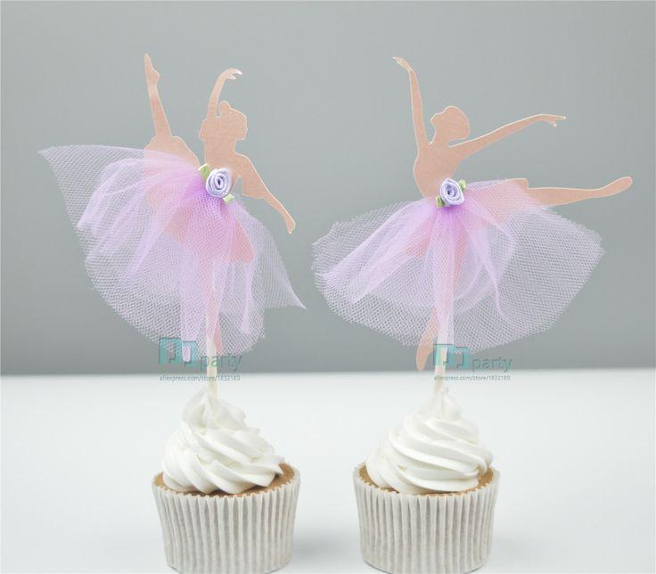 Barato Handmade bailarina Ballet menina chapéus de coco do queque partido picks…