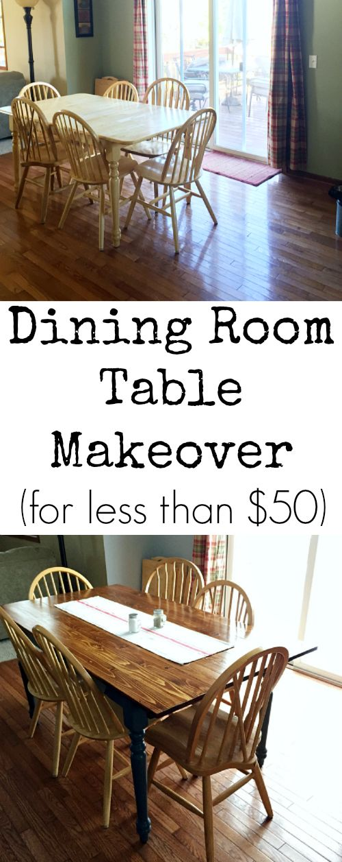 100 room makeover dining room table transformation