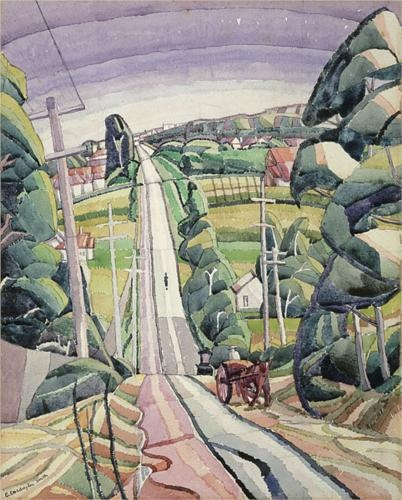 Grace Cossington Smith (1892 - 1984)   Post- Impressionism  Eastern Road, Turramurra - 1926 >>> And I would adore a print of this on the wall.