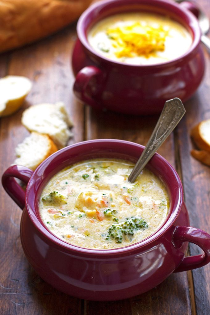 Creamy Broccoli Cheese Soup by littlespicejar #Soup #Broccoli #Cheese