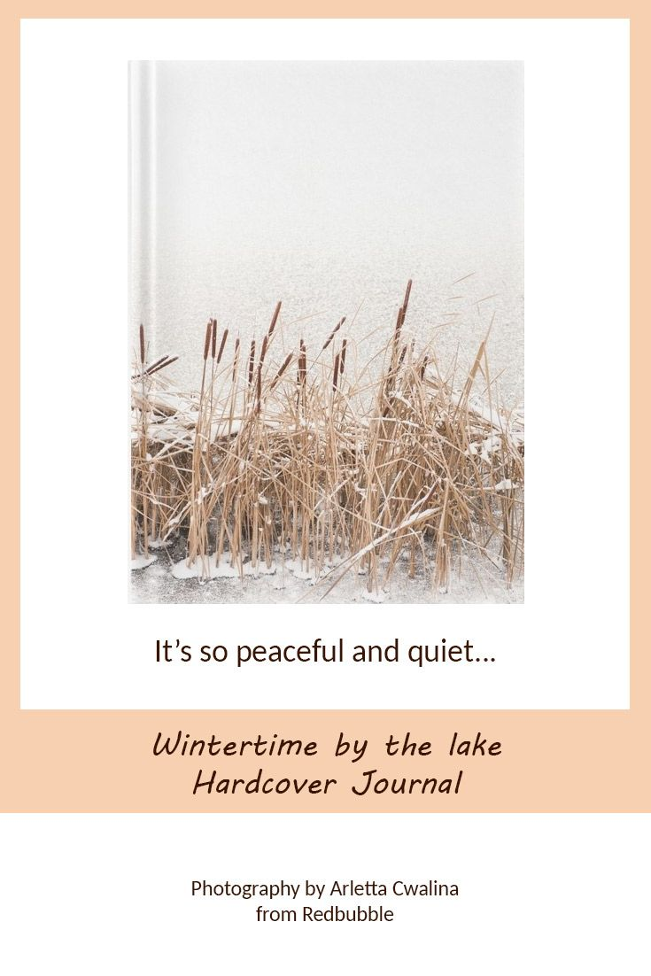 It's so peaceful and quiet... Wintertime Hardcover Journal. Nature Photography by Arletta Cwalina/ @redbubble. See more clothes and home decor ideas and if you love it, feel free to share, maybe your friends would like to have it too :) #homedecor #Hardcover #Journal #wintertime