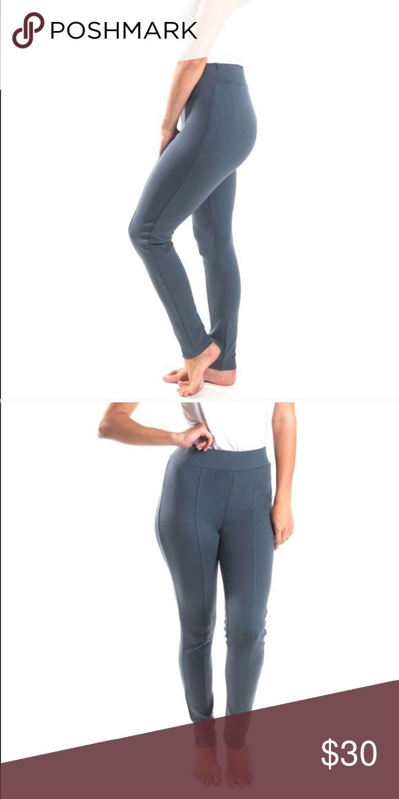 Gray Streamline Leggings - Ponte Knit NEW Original Price $46. A staple piece in any wardrobe. This classic legging has a slimming streamline detail and an elongated tapered cut. No more see through leggings - these will keep you perfectly covered.   66% Rayon 30% Polyester  4% Spandex   Machine wash cold/gentle All For Color Pants Leggings