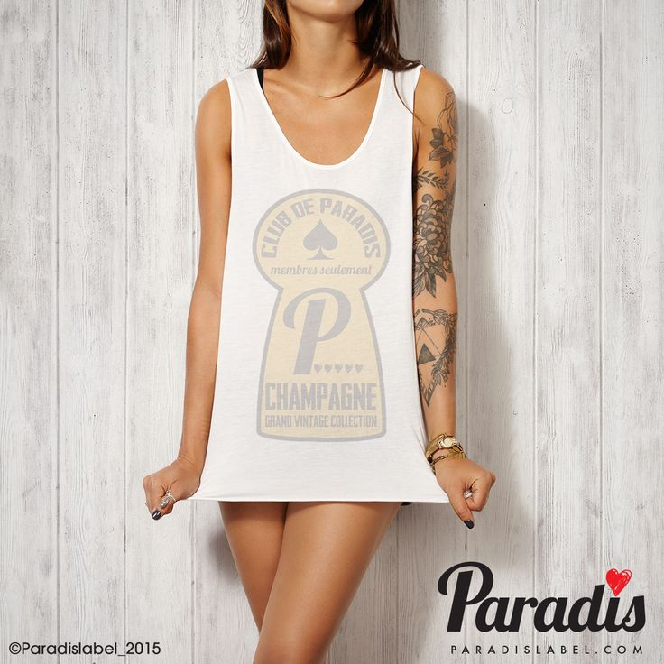 Club De Paradis Tank - Paradis Label Club de paradis - Paradis Label, Paradis Label, tank singlet cool fashion summer fashion beach vogue paris paradis sydney hot elegant sexy top
