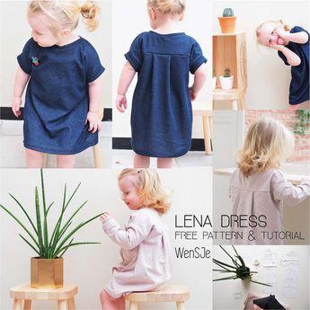 Lena dress gratis naaipatroon – free pattern & tutorial – für Kinder