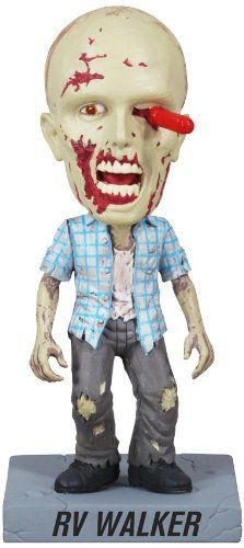 Funko Walking Dead: RV Walker Zombie Wacky Wobble by Funko. $11.44. Collect them all. Killed in action. Perfect for your desk or shelf. From the Manufacturer                Straight out of The Walking Dead hit TV show on AMC comes this amazing wacky wobbler. The Walking Dead RV Walker Zombie Bobble Head features the disturbing undead dude with a screwdriver in his eye as a detailed and wobbling bobble head. Measuring 7-inches tall, this is one amazing item for any fan of The ...