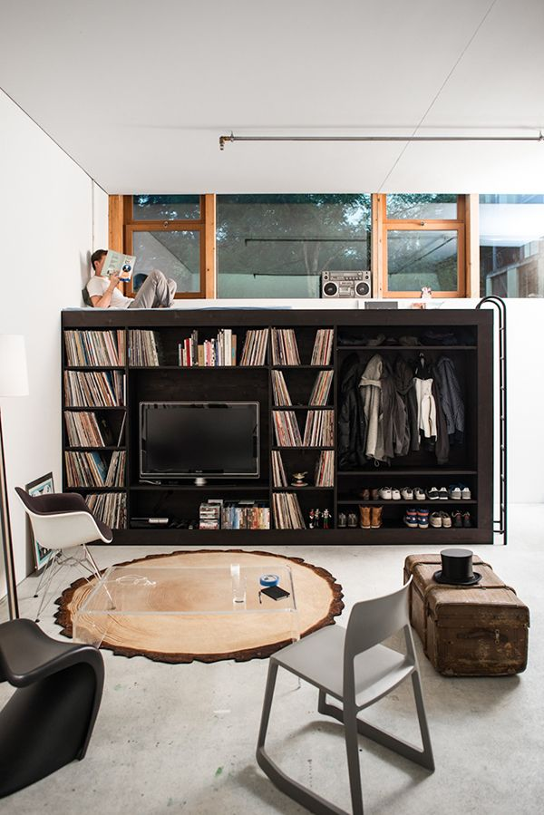 Photo by Rob Lewis, via IAMTHELAB: Interior Design, Idea, Bed, Living Room, Cubes, Small Spaces, Studio Apartment