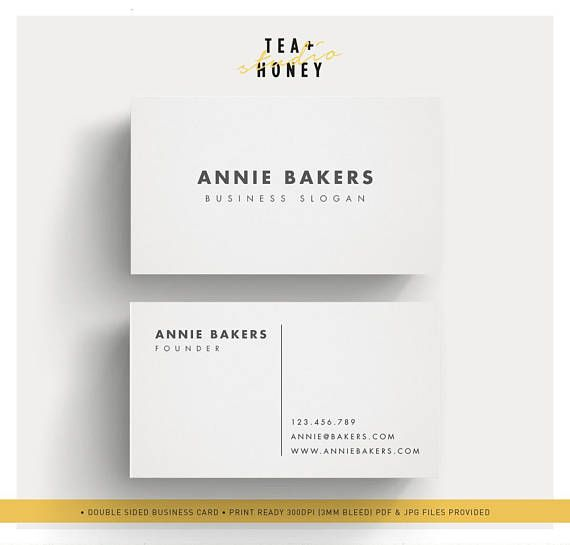 Simple Business Card Minimalistic Calling Card Light Grey With