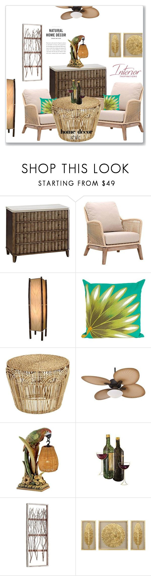 """""""Tropical Style"""" by nena137 ❤ liked on Polyvore featuring interior, interiors, interior design, home, home decor, interior decorating, Casa Vieja and Kathy Ireland"""