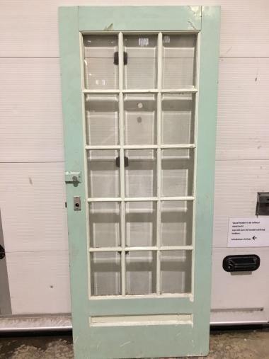 Mooie binnendeur / voordeur met Facet geslepen glas