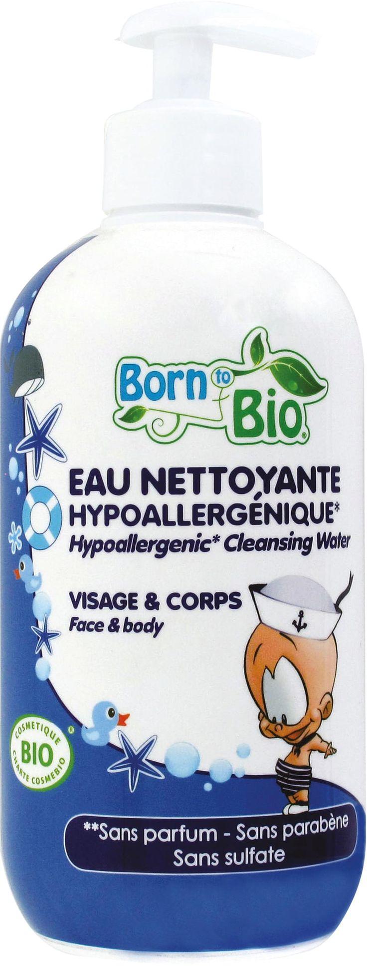 Born to Bio Organic Baby čistilna voda + pumpica - 500 ml
