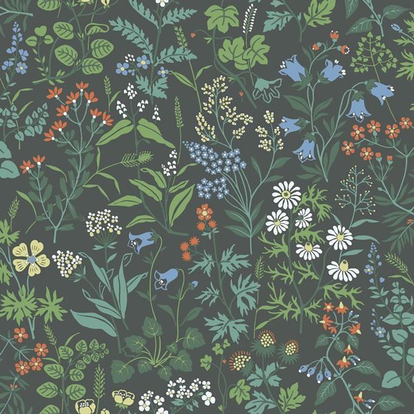 Scandinavian design wallpaper Flora from collection Jubileum by Borastapeter and…