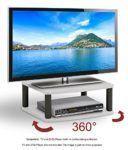 awesome RICOO TV Ständer Drehteller Fernsehtisch LCD Fernsehstand Drehbar FS052W LED Fernseher Stand Tisch Aufsatz Flachbildschirm Podest Flachbildfernseher PC Monitor Drehscheibe Drehplatte Bildschirm Erhöhung Universal