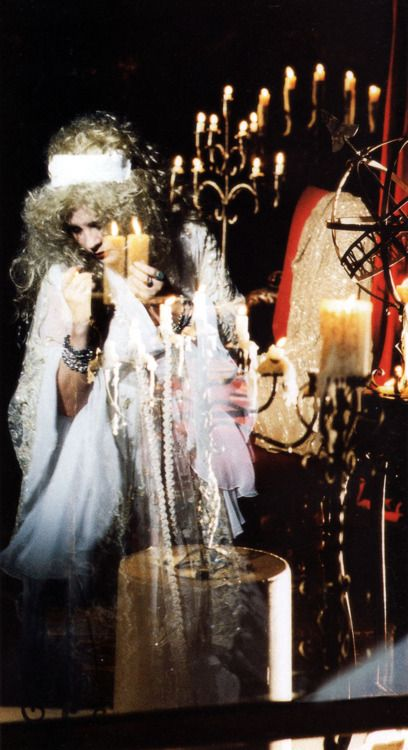 a beautiful mystical photo of Stevie, all glammed up and surrounded by candles,1994  ☆♥❤♥☆