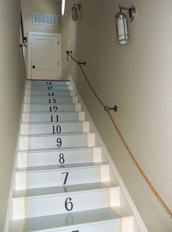 M s de 25 ideas incre bles sobre escaleras pintadas en for Escaleras 8 pasos