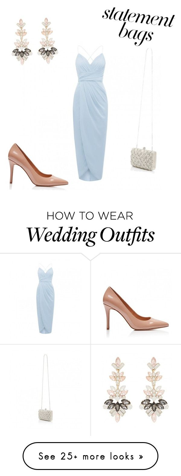 """Wedding Guest"" by style-with-kat on Polyvore featuring statementbags"