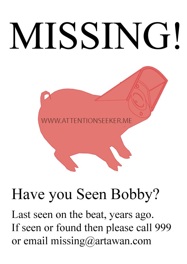 Please do let us know if you see him!