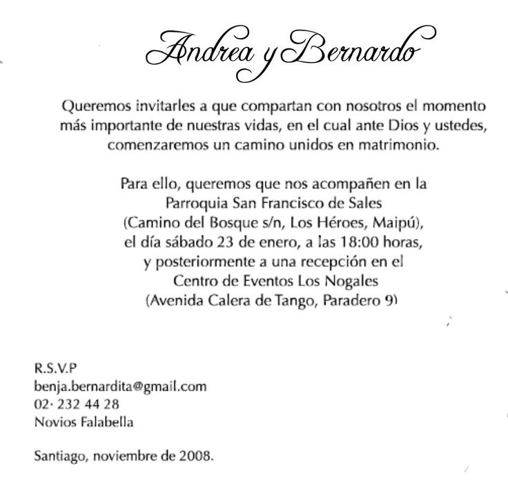 invitaciones de boda en espanol texto - Google Search