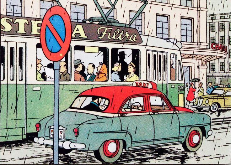 Tintin - L'Affaire Tournesol - Simca Aronde 1954 à Genève.
