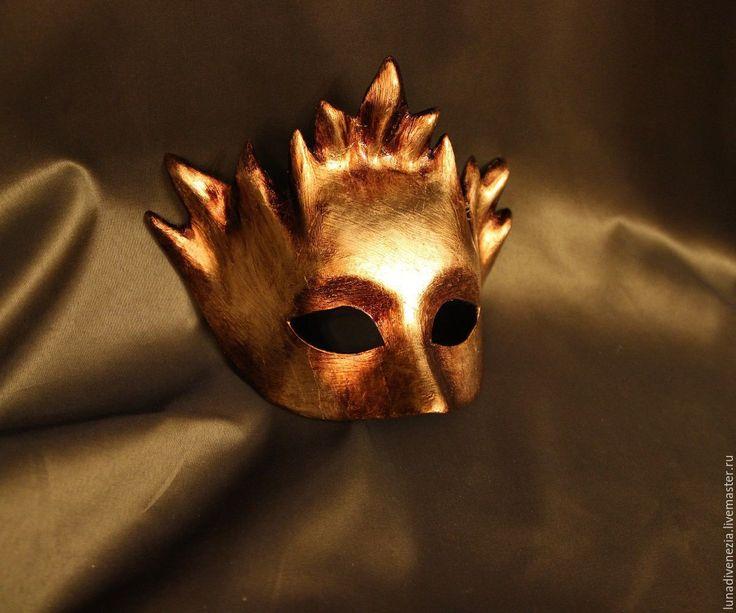 Купить Маска венецианская Дионисо (костюмная) - золотой, маска, венецианская маска, маска венецианская, карнавал