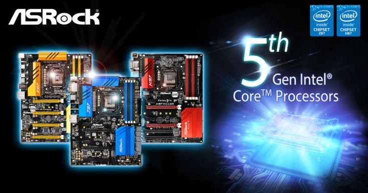 ASRock's Z97 and H97 Chipset Motherboards Are Ready to Support 5th Gen Intel® Core™ Processors
